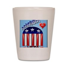 Remember Our Vets PosterP Shot Glass