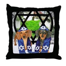 tiger and lily jewish12x16 Throw Pillow