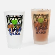 tiger and lily jewish12x16 Drinking Glass