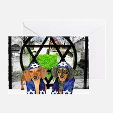 tiger and lily jewish16x16 Greeting Card
