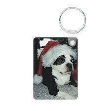 Santa BT oval ornament Keychains