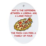 LIBERAL pizza Ornament (Oval)