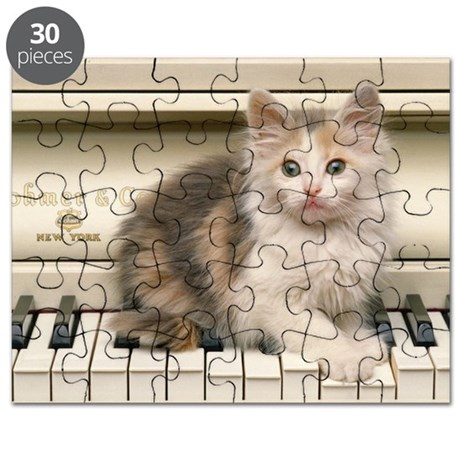 piano kitten greeting Puzzle