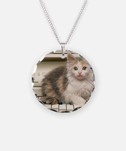 piano kitten pillow Necklace