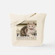 piano kitten pillow Tote Bag