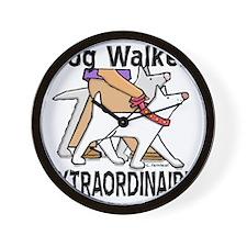 dogwalker Wall Clock