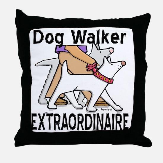 dogwalker Throw Pillow