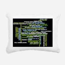ComposersWordle Rectangular Canvas Pillow