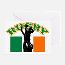 Rugby lineout throw ball ireland fla Greeting Card