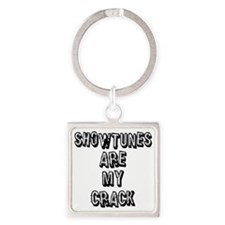 SHOWTUNES ARE MY.eps Square Keychain