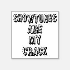 "SHOWTUNES ARE MY.eps Square Sticker 3"" x 3"""