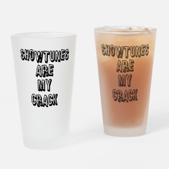 SHOWTUNES ARE MY.eps Drinking Glass