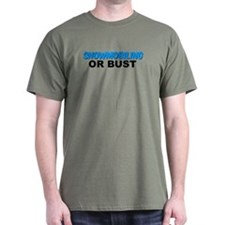 Snowmobiling or Bust T-Shirt