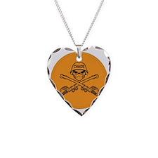 ORANGE AGENT Necklace Heart Charm
