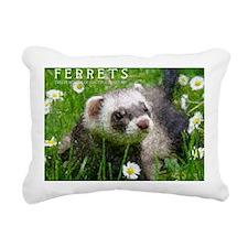 ferretcalcover2 Rectangular Canvas Pillow