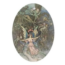 The Faery Gathering Oval Ornament