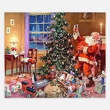 Santa Claus 3_10x14_ADJ King Duvet