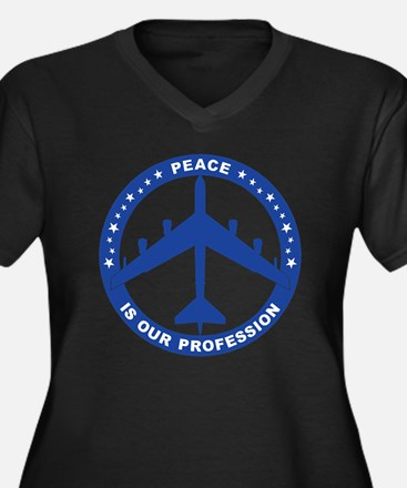 Peace Is Our Women's Plus Size Dark V-Neck T-Shirt