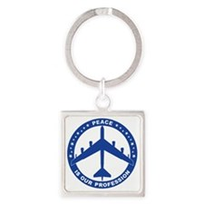 Peace Is Our Profession - B-52H Bl Square Keychain
