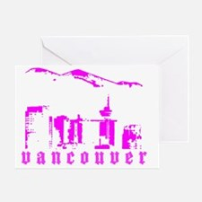 vancouverSKYLINEandMOUNTAINver2 Greeting Card