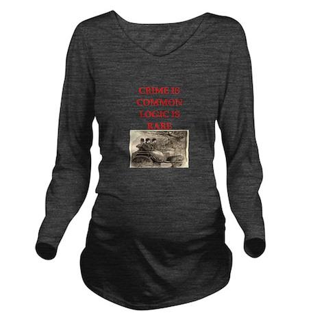 HOLMES25.png Long Sleeve Maternity T-Shirt