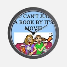funny book books movie movies joke Wall Clock