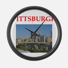 PITTSBURGH Large Wall Clock