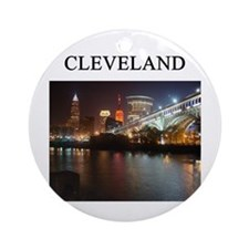 Cleveland Ohio Ornament (round)