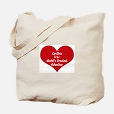 Greatest Valentine: Cynthia Tote Bag