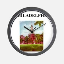 philadelphia pennsylvania weather joke Wall Clock