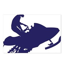 Navy-Snowmobiler Postcards (Package of 8)