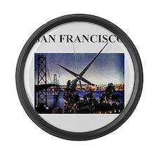 san francisco california gifts Large Wall Clock