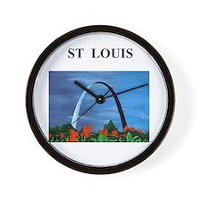 ST LOUIS missouri gifts Wall Clock