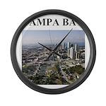 tampa bay florida gifts Large Wall Clock