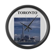 TORONTO canada gifts Large Wall Clock
