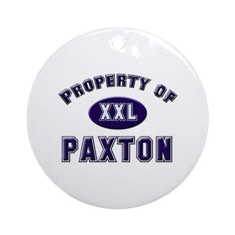 Property of paxton Ornament (Round)