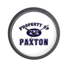 Property of paxton Wall Clock
