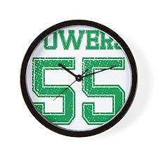 POWERS GREEN Wall Clock