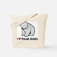 I Love Polar Bears Tote Bag