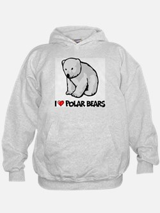 I Love Polar Bears Hoodie