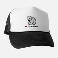 I Love Polar Bears Trucker Hat