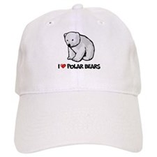 I Love Polar Bears Baseball Cap