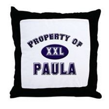Property of paula Throw Pillow