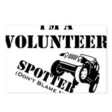 Volunteer Spotter BLACK Postcards (Package of 8)