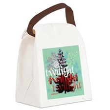 christmas iphone copy Canvas Lunch Bag