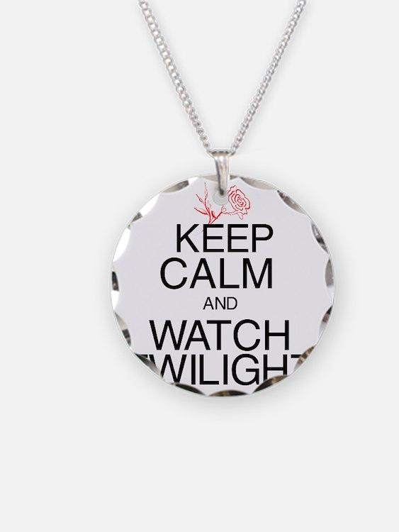Keep Calm Twilight Black Necklace