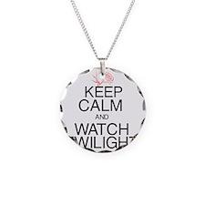 Keep Calm Twilight Black Necklace Circle Charm