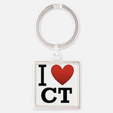 i-love-ct Square Keychain