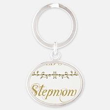 Gold_Stepmom Oval Keychain