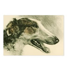 Borzoi Single Profile Postcards (Package of 8)